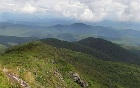 I often thought of the views from Shining Rock Wilderness when imagining the highlands of Gwynyr. (Janet Edens photo)